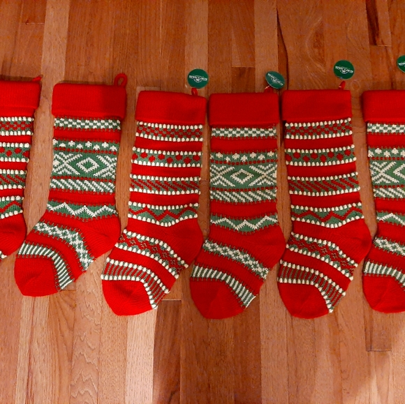 8 Kurt adler knit stockings and adorable lil' sign